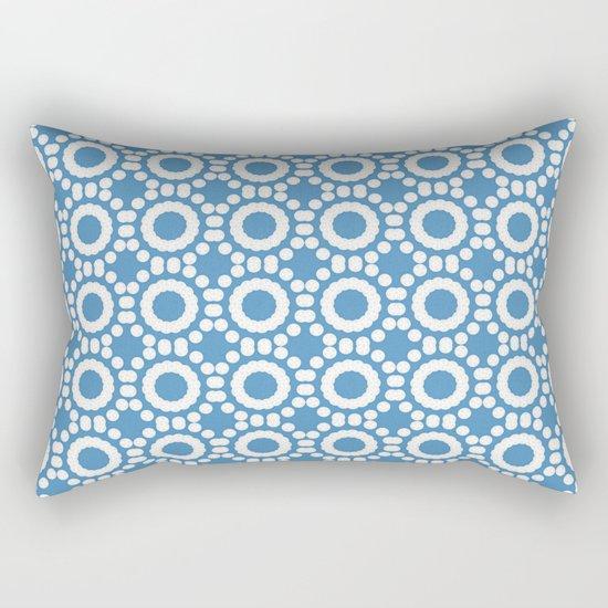 Round and Round Blue Rectangular Pillow