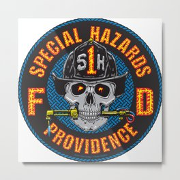 Special Hazards Providence RI Fire Department Metal Print