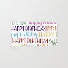 Happy Birthday | Fun & Bright Hand & Bath Towel