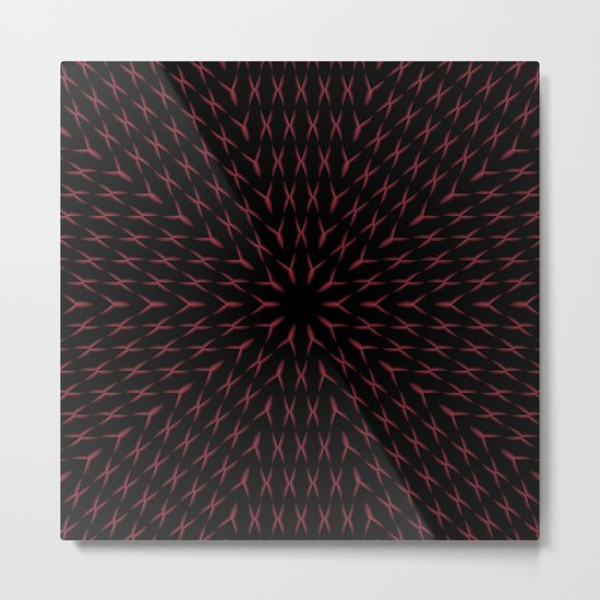 PCT2 Fractal in Red and Black Metal Print