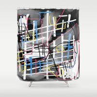 running Shower Curtains featuring Running Around by Jonny Penn