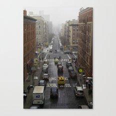 East Harlem NYC Snowy Saturday Canvas Print