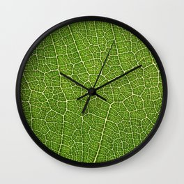 Green Leaf Wall Clock