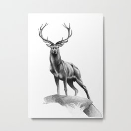 All Muscle - Red Deer Stag Metal Print