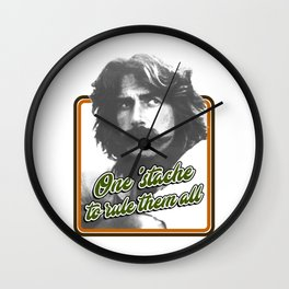 One 'stache to rule them all Wall Clock