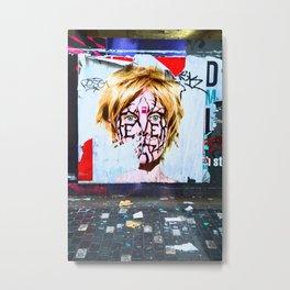 London Urban Wall Metal Print