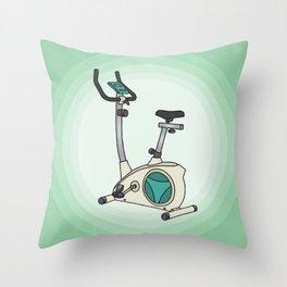 Exercise bike Throw Pillow