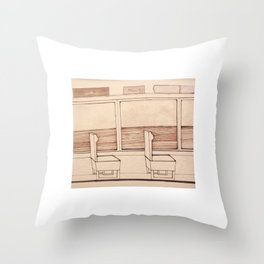 travelogue Throw Pillow