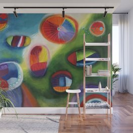 floating circles Wall Mural