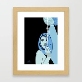 Genevieve & Cigarettes  Framed Art Print