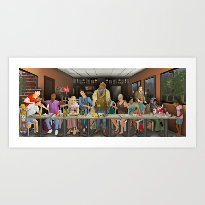 Today's Last Supper Art Print
