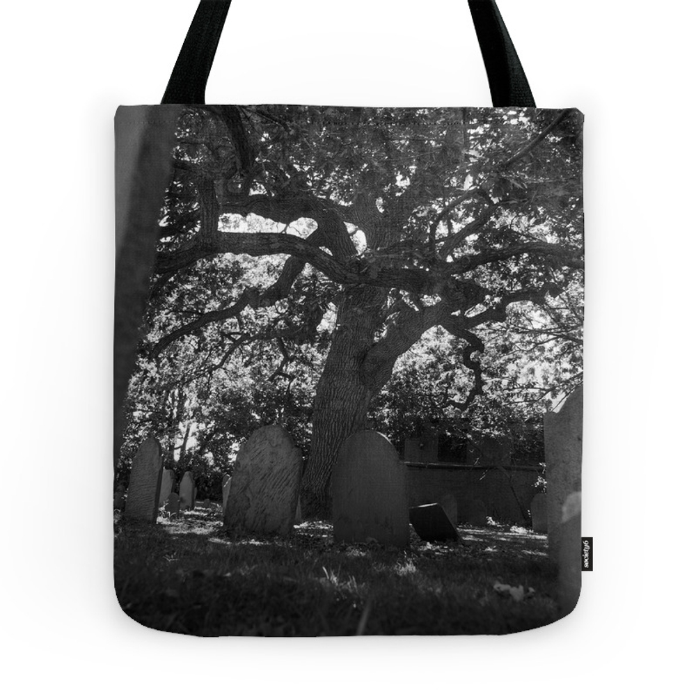 At My Grave - Salem Massachusetts Burying Point Tote Purse by emmaclairecallahan (TBG7867788) photo