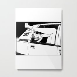 asc 320 - Le taxi (The meter continues to run) Metal Print
