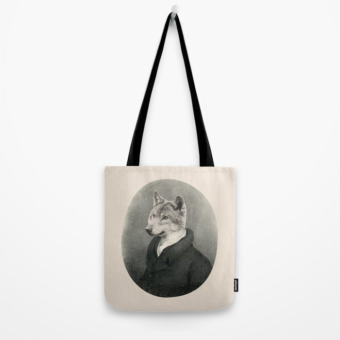 Lithography wolf Tote Bag
