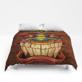 Tiki Head Style 1 Comforters
