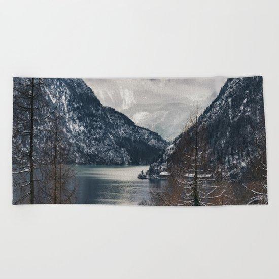 Winter Landscape #photography #sky Beach Towel