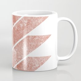 rose gold chevron Coffee Mug