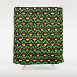 Art deco flower Shower Curtain