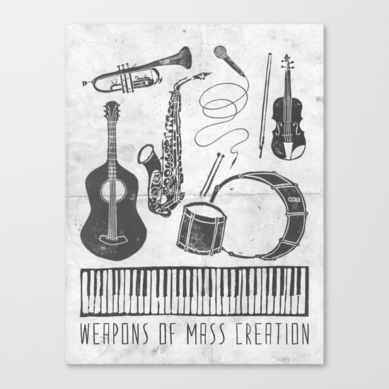 Weapons Of Mass Creation - Music (on paper) Canvas Print