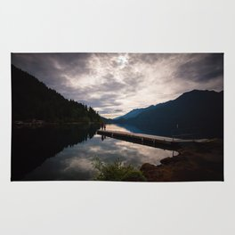 lake crescent, olympic national park. washington Rug