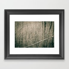 Can't see the Trees for the Wood Framed Art Print