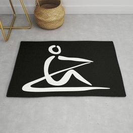 Rowing Logo 1 white Rug