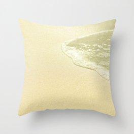 beach sparkling golden sand Throw Pillow