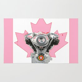 Portuguese Canadian Biker Hot Pink Culture. Rug
