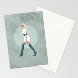 Green Marble Stationery Cards