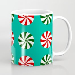 Striped Candy Mints in Christmas Colors Pattern Coffee Mug