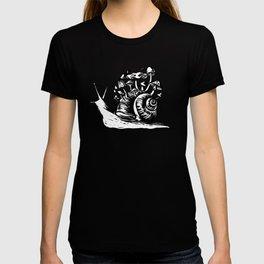 Mushroom Snail Linocut T-shirt