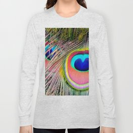 Peacock Tail Feathers Long Sleeve T-shirt