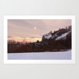 Scarborough Bluffs in Winter on December 27th, 2020. VII Art Print