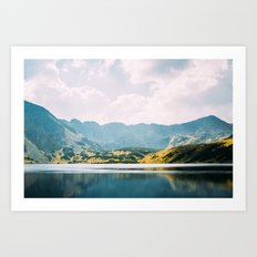 Autumn Mountain Lake Art Print