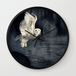 The owl and her mystical moon Wall Clock