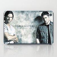 sam winchester iPad Cases featuring Supernatural - Sam & Dean Winchester by ElvisTR