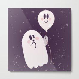 Pink Ghost and Friend Metal Print