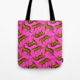Tigers (Magenta and Marigold) Tote Bag