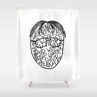 dwight Shower Curtains featuring DWIGHT by Grace Billingslea