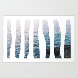 aesthetic ocean Art Print