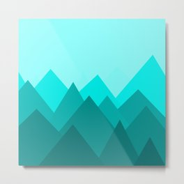 Simple Montains Metal Print