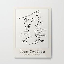 Poster-Jean Cocteau-Woman-Portrait. Metal Print