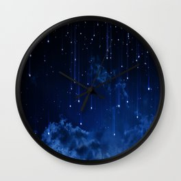 Falling stars II Wall Clock
