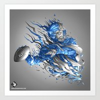 seahawks Art Prints featuring Superbowl XLVIII - Seahawks by The Neuronaut