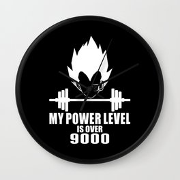 my power level is over 9000 Wall Clock