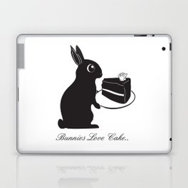 Bunnies Love Cake, Bunny Illustration, cake lovers, animal lover gift Laptop & iPad Skin