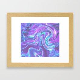 iridescent | bleu's creations. Framed Art Print
