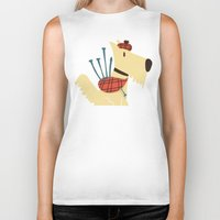 terrier Biker Tanks featuring Scottish  Terrier - My Pet by Picomodi
