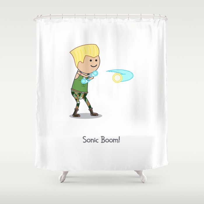 Sonic Boom! Shower Curtain