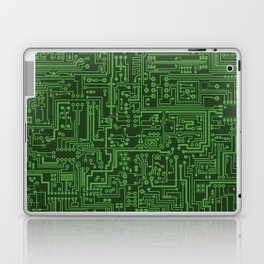 Circuit Board // Light on Dark Green Laptop & iPad Skin
